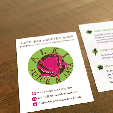 Alki Juice & Java Logo & Design