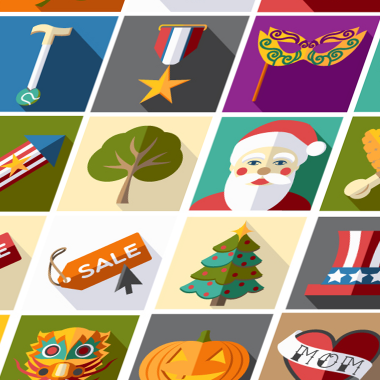 Full Icon set – American Holidays